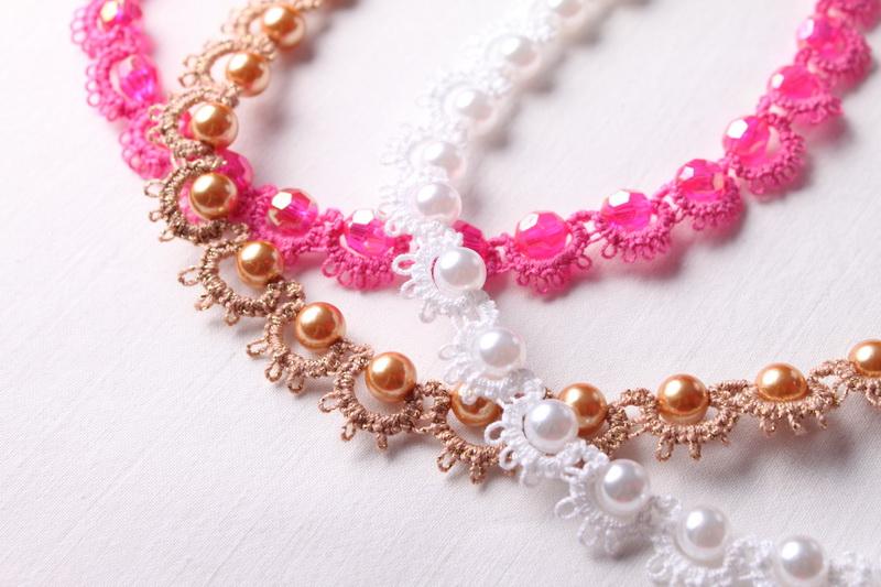 Frivolitková krajka - návod na náhrdelník