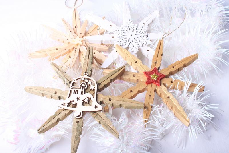 Vánoční hvězda z kolíčků - návod - 18