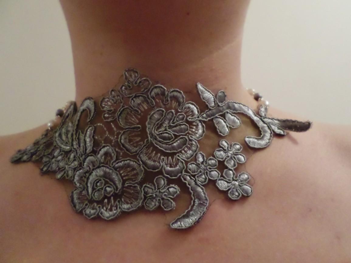 Návod na krajkový náhrdelník
