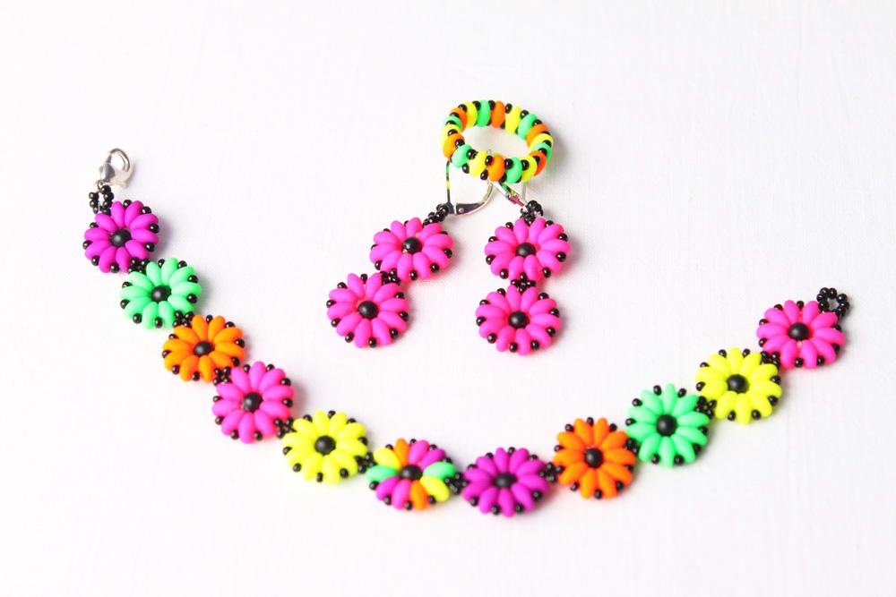 Návod na neonové šperky z korálků SuperDuo - 39