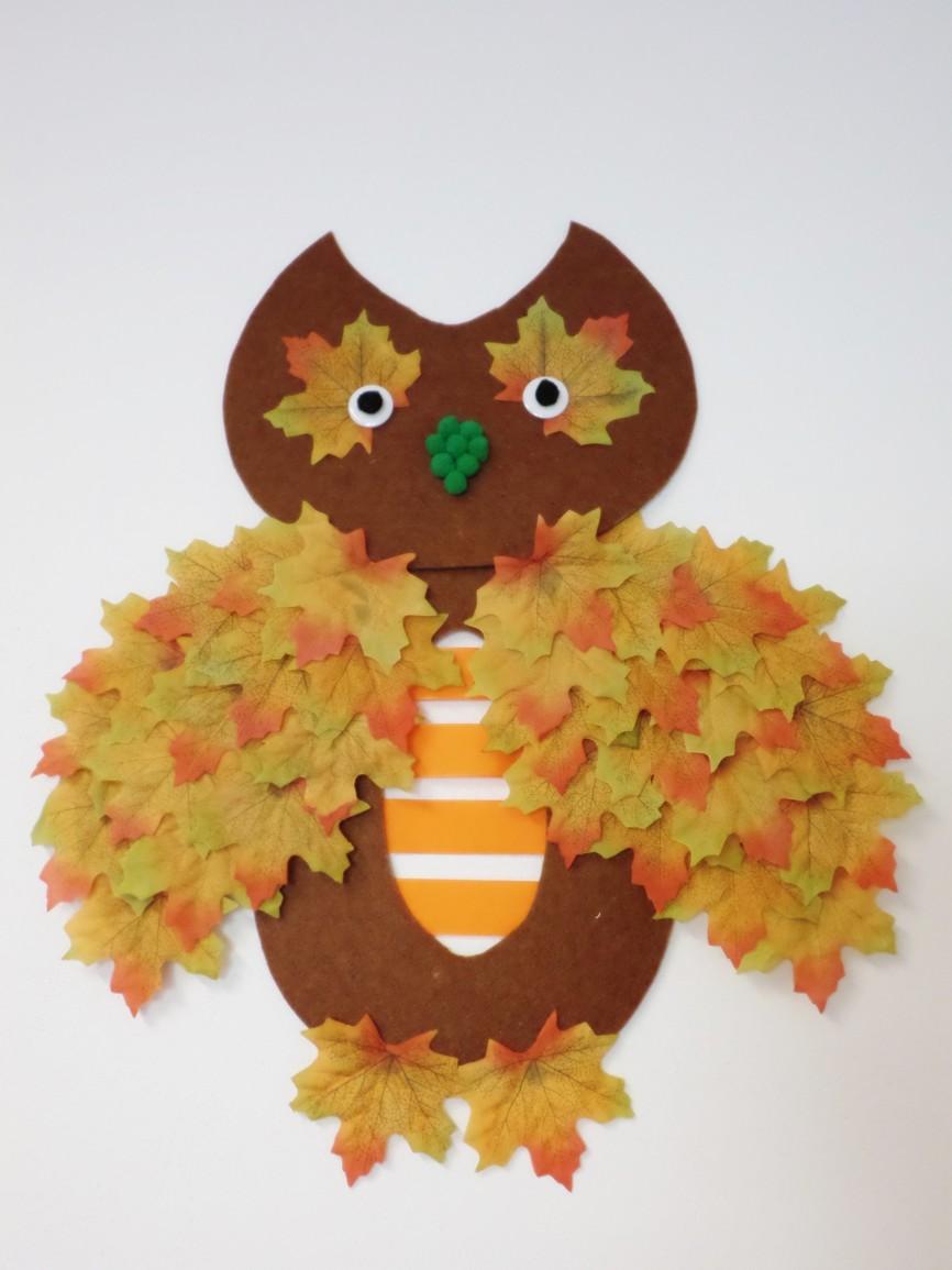 Podzimní dekorace sovička - návod