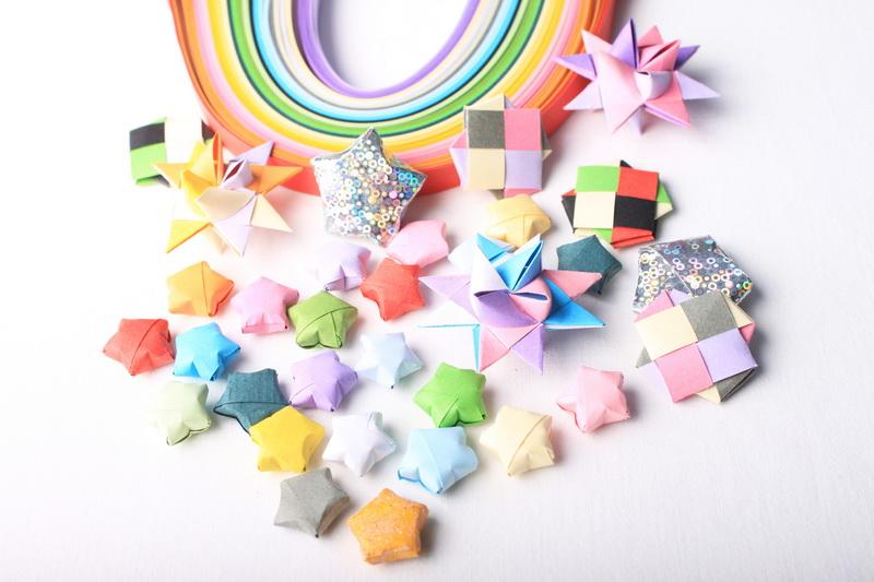 Origami hvězdičky - návod - 68