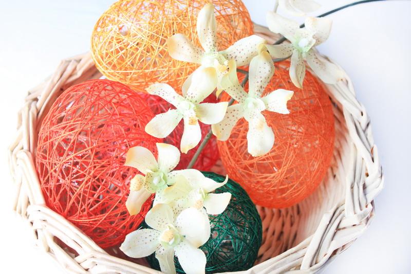 Velikonoční vajíčka z příze - návod 15